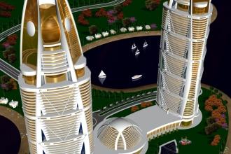 2 CASTOR POLLUX ABU DHABI AIR VIEW